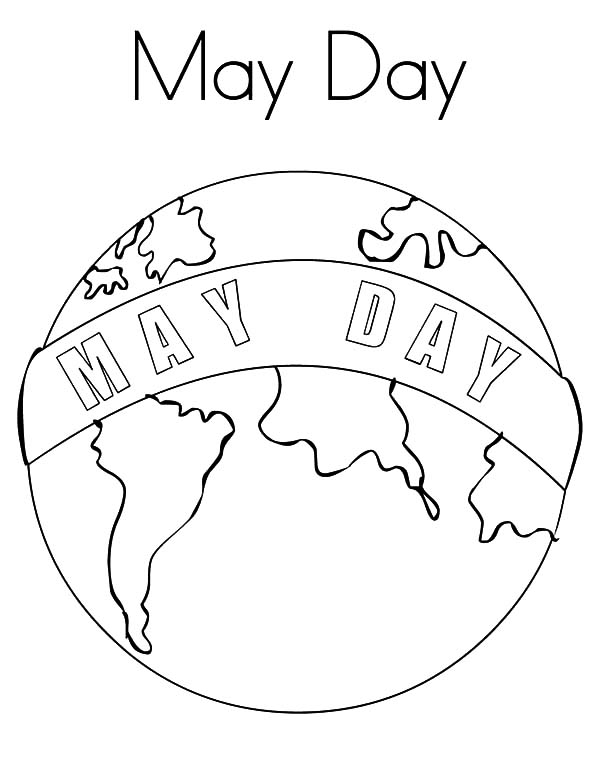 May Day Around The World Coloring Pages May Day Around