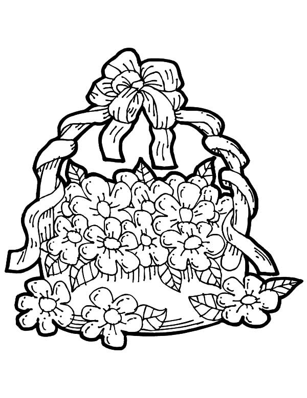 may day flower basket coloring pages