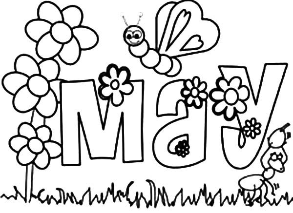 May Day, : May Day Flower Garden Coloring Pages