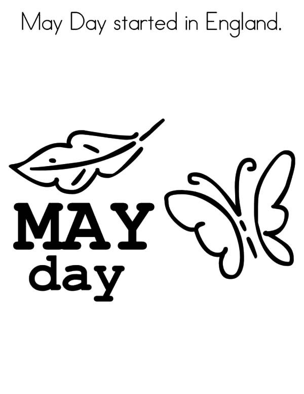 May Day, : May Day Started in England Coloring Pages