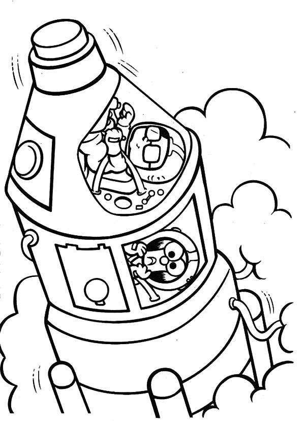 Muppet Babies Space Travel Coloring Pages Best Place to