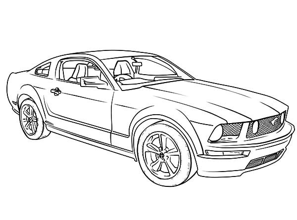 Camaro Cars, : Mustang Camaro Cars Coloring Pages