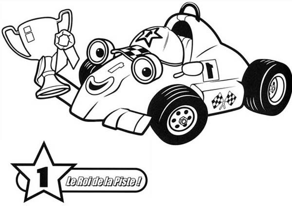 Roary the Racing Car, : Number One Trophy Roary the Racing Car Coloring Pages