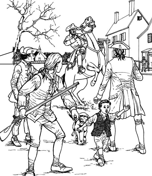 Patriots Day, : Patriots Day Civil War Coloring Pages