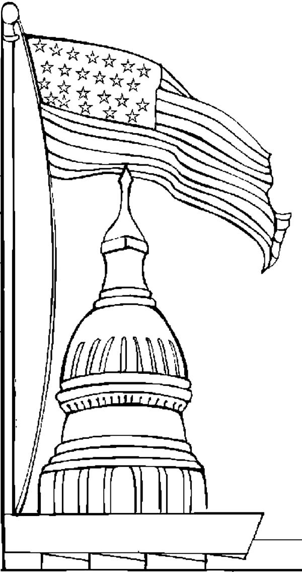 Patriots Day, : Patriots Day White House Coloring Pages