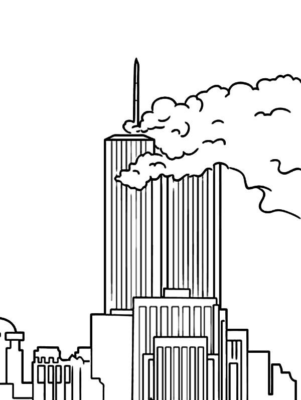 Patriots Day, : Patriots Day World Trade Center Coloring Pages
