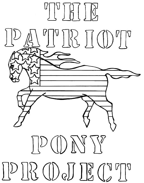 Patriots Day, : Patriots Day the Patriot Pony Project Coloring Pages