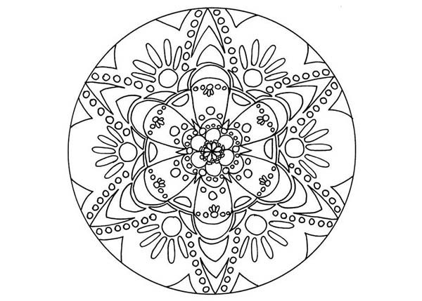 Christmas Mandala, : Picture of Mandala Christmas Coloring Pages