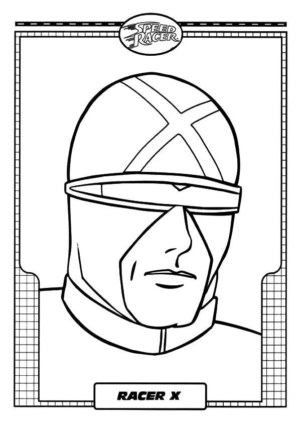 Speed Racer, : Picture of Racer X of Speed Racer Coloring Pages