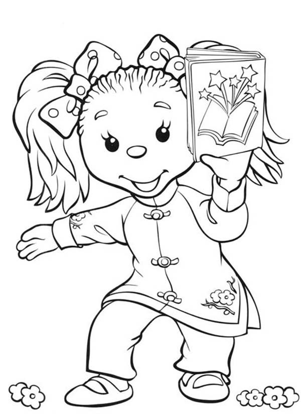 Rupert Bear, : Ping Pong and Her Book in Rupert Bear Coloring Pages
