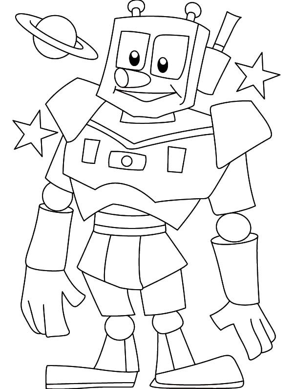Robots, : Pinocchio Robot Coloring Pages