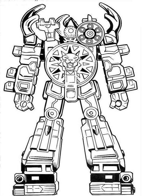 Robots, : Power Rangers Big Robot Coloring Pages