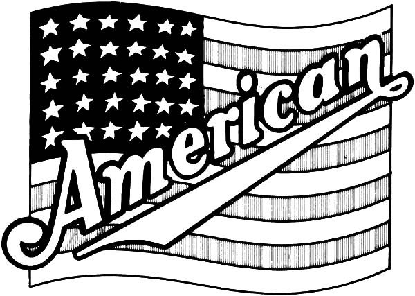 July 4 Coloring Pictures : Proud american flag for 4th july independence day coloring page