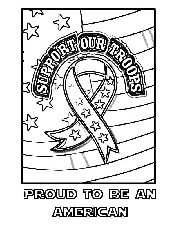 Patriots Day, : Proud to be an American Patriots Day Coloring Pages