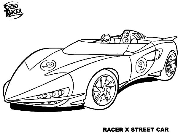 Speed racer free colouring pages for Speed racer coloring pages