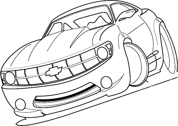 Camaro Cars, : Racing Chevy Camaro Cars Coloring Pages