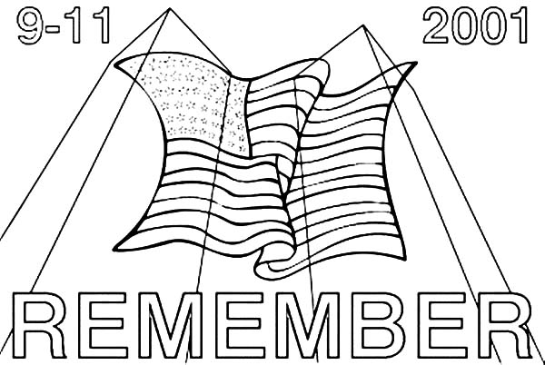 Patriots Day, Remember 9-11 Patriots Day Coloring Pages: Remember 9 11 Patriots Day Coloring PagesFull Size Image