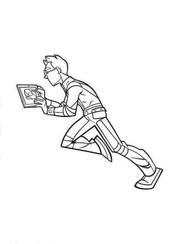 Rox, : Rick with His Gadget in Rox Coloring Pages
