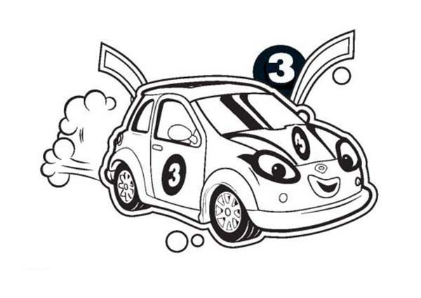 Roary the Racing Car, : Roary the Racing Car Cici is Ready to Race Coloring Pages