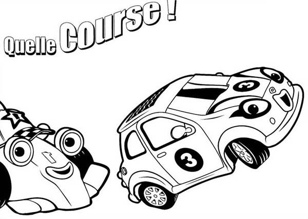 Roary the Racing Car, : Roary the Racing Car on Course with Cici Coloring Pages
