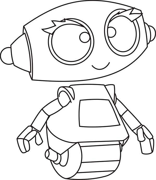 Robots, : Rob the Sweet Robot Coloring Pages