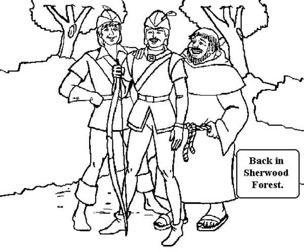Robin Hood, : Robin Hood Back in Sherwood Forest Coloring Pages