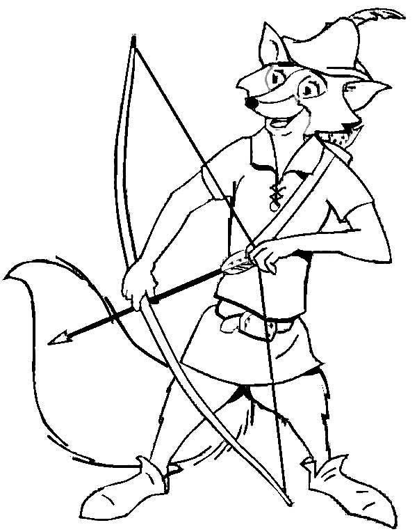Robin Hood, : Robin Hood Drew His Bow Coloring Pages