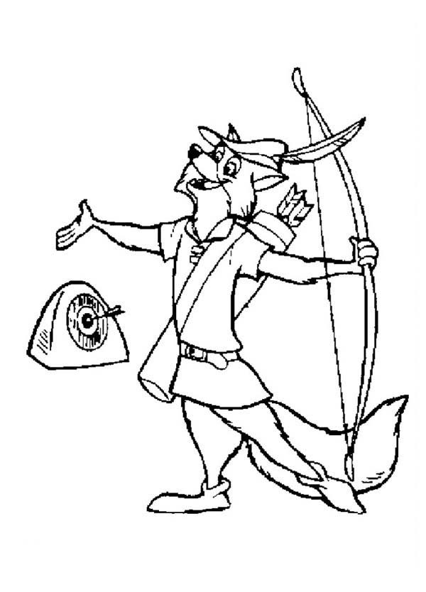 Robin Hood, : Robin Hood Had His Target Coloring Pages