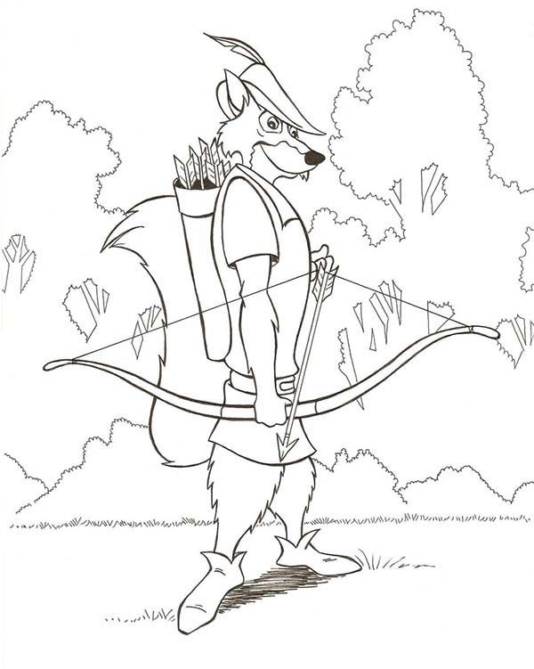 Robin Hood, : Robin Hood Pick an Arrow Coloring Pages