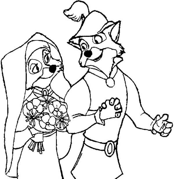 Robin Hood, : Robin Hood Wedding Day Coloring Pages