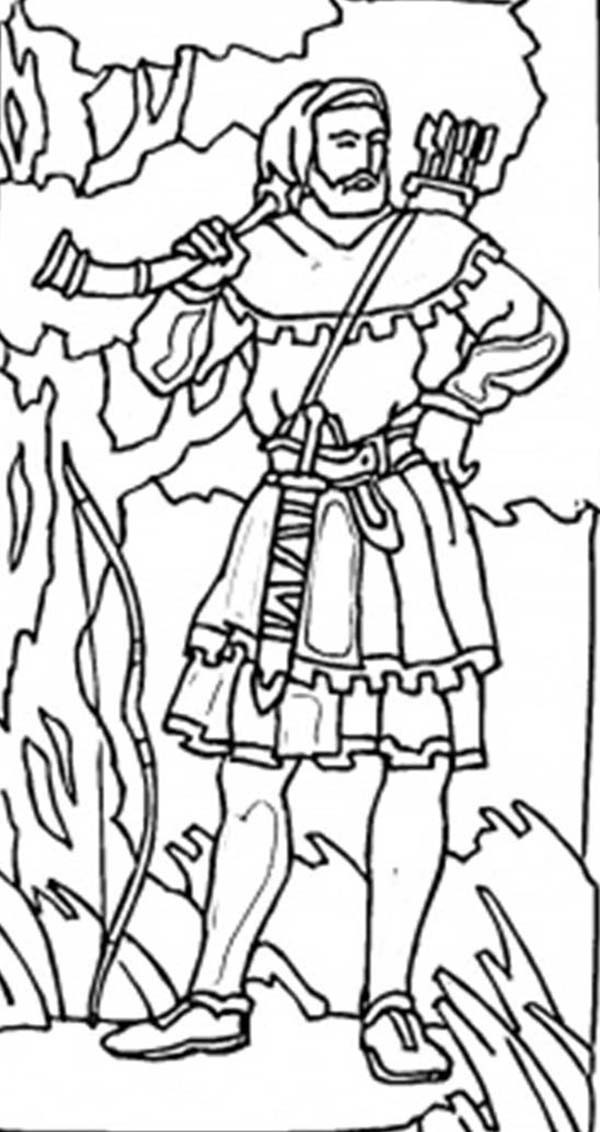 Robin Hood, : Robin Hood the People Hero Coloring Pages