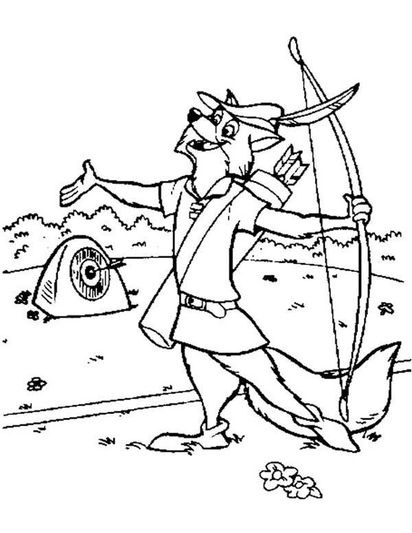 Robin Hood, : Robin Hood the Sharp Shooter Coloring Pages