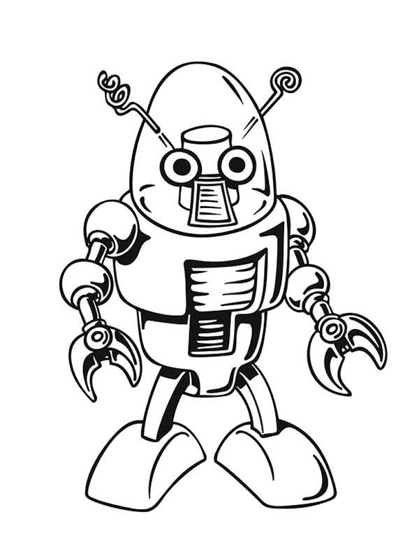 Robots, : Robot Coloring Pages