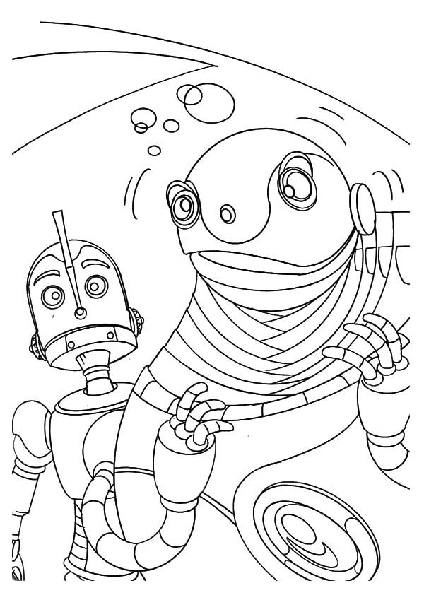 Robots, : Robot Feeling Dizzy Coloring Pages