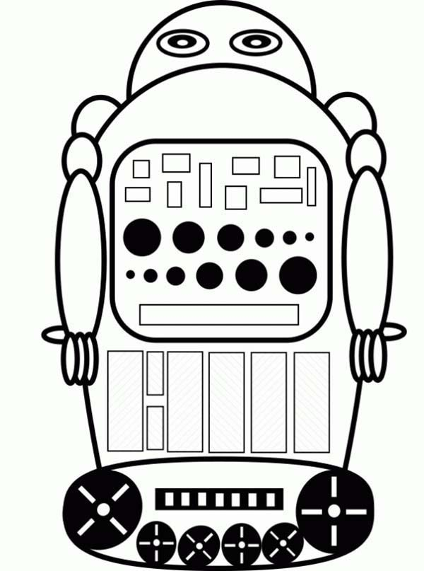 Robots, : Robot Remote Control Coloring Pages