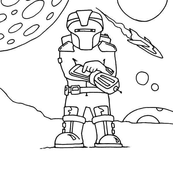 Robots, : Robot from Outer Space Coloring Pages