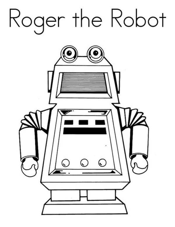 Robots, : Roger the Robot Coloring Pages