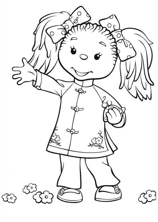 Rupert Bear, : Rupert Bear Beautiful Friend  Ping Pong Coloring Pages
