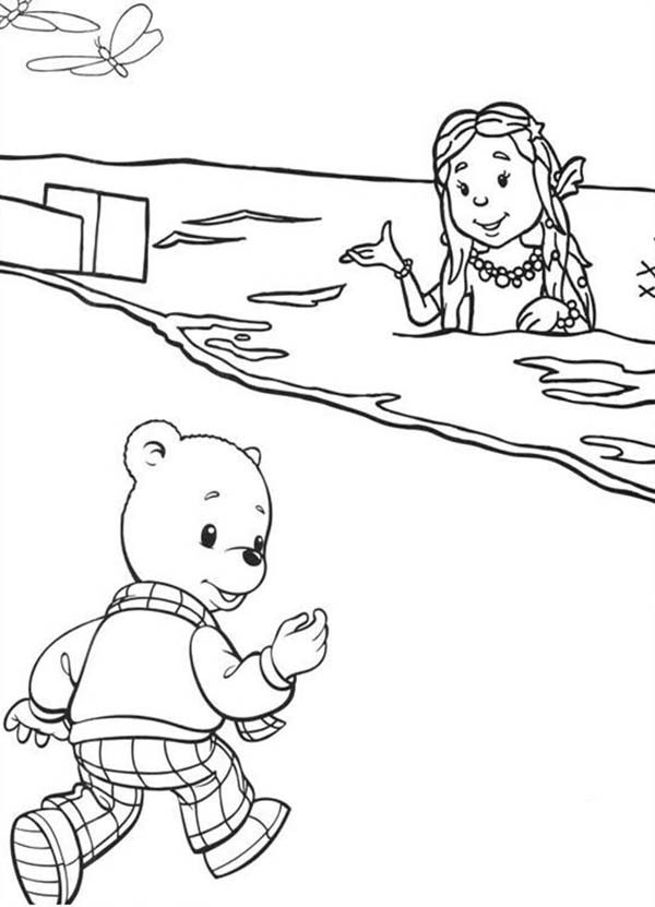 Rupert Bear, : Rupert Bear Going to Beach Coloring Pages
