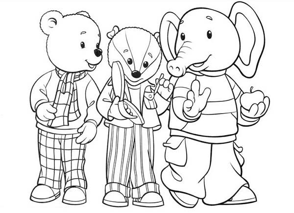 Rupert Bear, : Rupert Bear and Friends Coloring Pages