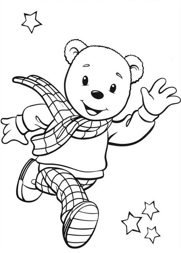 Rupert Bear, Rupert Bear is Running Coloring Pages: Rupert Bear Is Running Coloring PagesFull Size Image