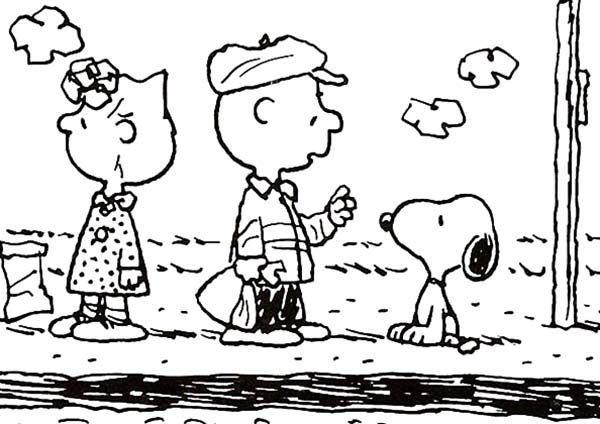 Snoopy, : Sally and Charlie Meet Snoopy Coloring Pages