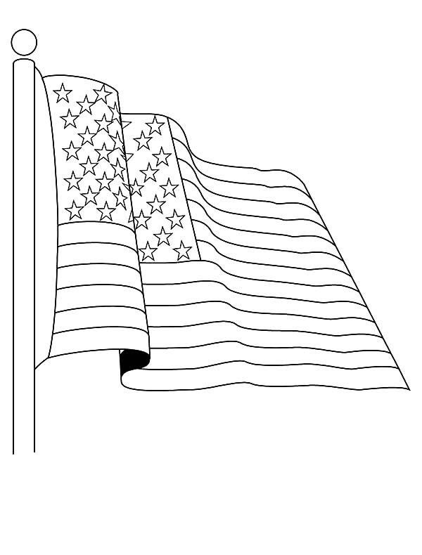 Independence Day, : Salute to American Flag for 4th July Independence Day Coloring Page 2