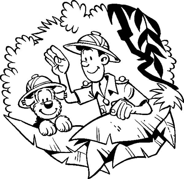 Samson and Gert, : Samson and Gert Adventure in the Jungle Coloring Pages