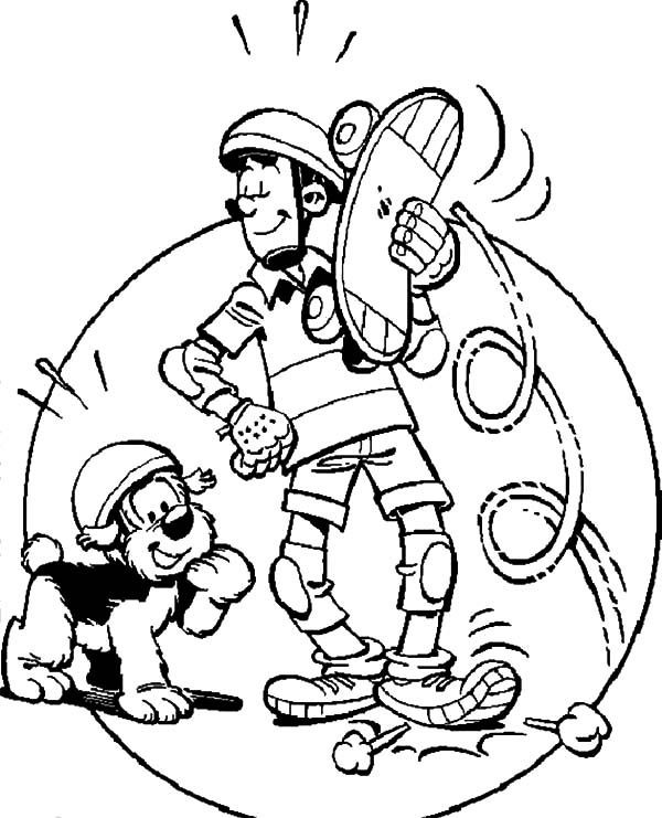 Samson and Gert, : Samson and Gert Awesome Skating Skills Coloring Pages