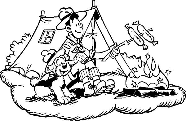 Samson and Gert, : Samson and Gert Camping Coloring Pages