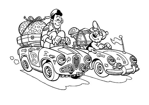 Samson and Gert, : Samson and Gert Going on Holiday Coloring Pages