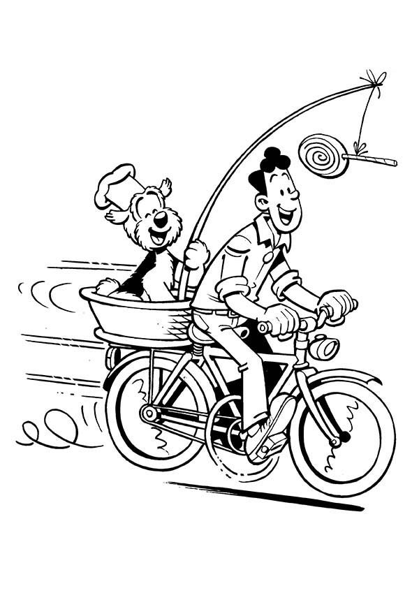 Samson and Gert, : Samson and Gert Riding Bike Coloring Pages