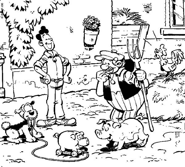 Samson and Gert, : Samson and Gert at Uncle Farm Coloring Pages
