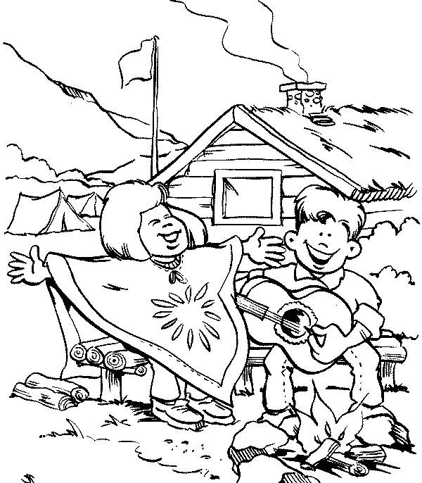 Scouting, : Scouting Activity Singing Together Coloring Pages